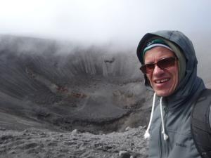 krater des puracé. es wird leider nicht ganz klar, wie scheiße windg es ist!
