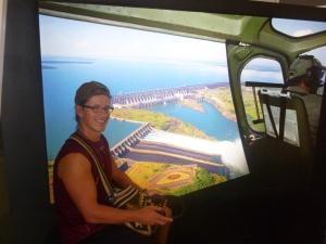 Im Flugsimulator über dem Itaipú-Staudamm