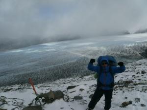 ... und schließlich mit dem Blick zur anderen Seite auf den mächtigen Glaciar Grey!