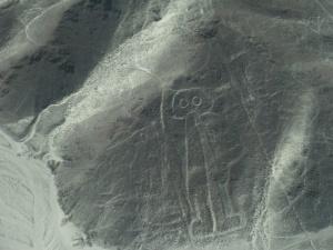"""Hier der """"Astronaut"""" in einer Hügel geritzt. Astronaut...? Ja! Hab ich mir nicht ausgedacht..."""