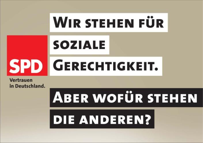 SPD-Plakat Soziale Gerechtigkeit