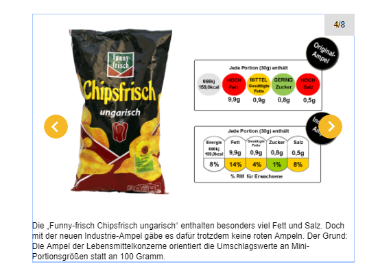 Industrie-Ampel chipsfrisch