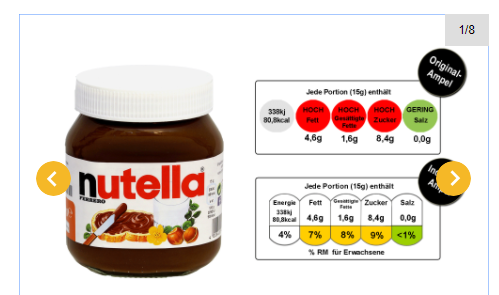 Industrie-Ampel nutella